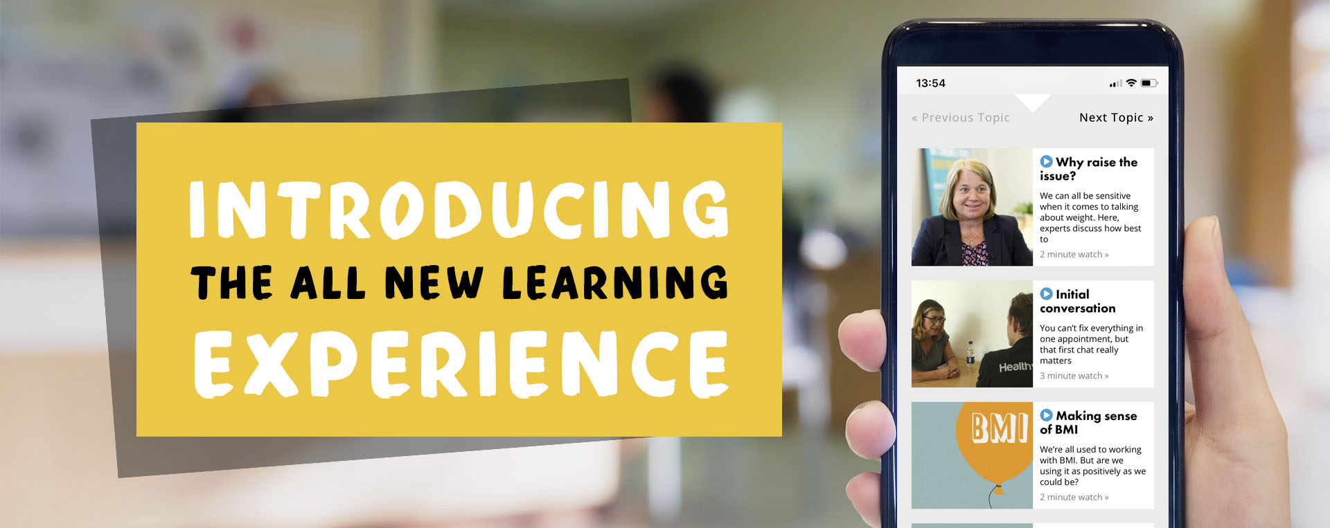 Learning Experience Banner